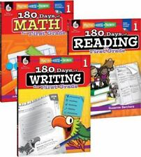 180 Days of Reading, Writing, and Math for First Grade 3-Book Set (Paperback or