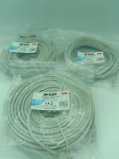 CABLE ETHERNET CATEGORIE 6 RJ45 LAN RESEAU - LONGUEUR 2M50 à 50 Mètres - ARCAS