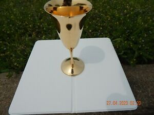 Gold Silverplated Wine Goblet Stemmed Cup
