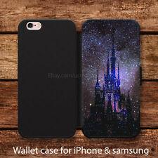 Fantasy disney Wallet case iPhone 6s Plus 5s 5c SE 4s Samsung note 3 4 5 Cases