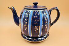 Antique Royal Stanley C & Co (Colclough) hand painted enameled teapot & stand.