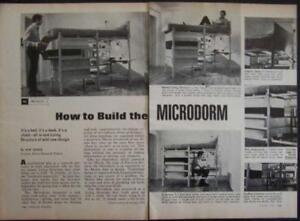 MICRODORM Bed/Desk/Chest HowTo build PLANS Matrix Dorm
