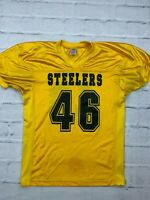 NFL Pittsburgh Steelers #46 Size XL Micky Crum Sleeves Jersey Football Yellow