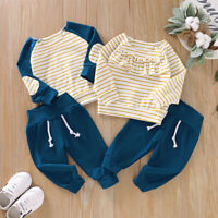 Baby Girl Boy Brothers&Sisters Matching Outfit Long Sleeve Top+Pants Clothes Set