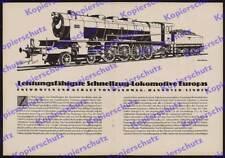 or. Reklame Hanomag Dampflok 2 D1 4601 Eisenbahn Reichsbahn Hannover-Linden 1925