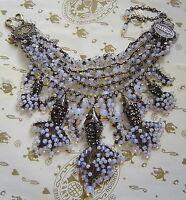 KONPLOTT Kette / Collier  Swimming Caviar white multi / antique bronce