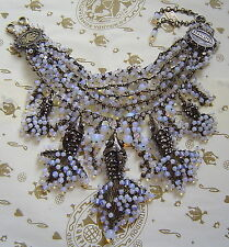 KONPLOTT Kette / Collier  Swimming Caviar white multi / antique bronce