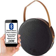 24W Waterproof Bluetooth Speaker -WOOD- Wireless Portable Rechargeable BASS AUX