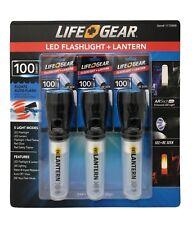 Life+Gear LED Flashlight & Lantern 100 Lumens 5 Modes Auto-Flash in Water 3 Pack