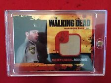 Le walking dead costume carte M1 SHERIFF chemise stiching w / case new