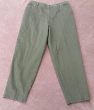 CJ Banks Dark Green Slacks Pants - Size 14W - 4 Pocket / Button Zip Fly