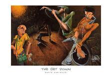 THE GET DOWN ART PRINT BY DAVID GARIBALDI ethnic rap music hip hop dj poster