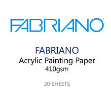 Fabriano Vernice Acrilica Artista Carta - Pack of 20 400 GSM Fogli - 35 x 25 cm