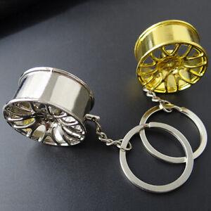 Creative Wheel Hub Rim Model Man's Keychain Car Key Chain Keyring Accessories LW