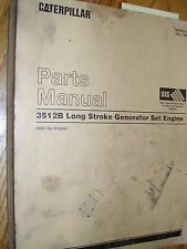CAT Caterpillar 3512B PARTS MANUAL BOOK CATALOG ENGINE GENERATOR SET 5AW1 &UP