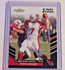 2007 Score Black End Zone Parallel Matt Leinart /6 Cardinals USC Texans Raiders