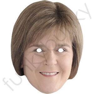 Nicola Sturgeon Scottish politician Celebrity Mask - All Masks Are Pre-Cut!
