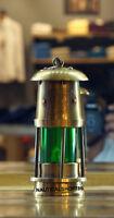 Marine Vintage Style Nautical Miner Boat Ship Lantern Oil Lamp Green Glass