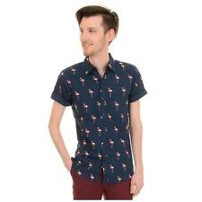 Retro Flamingo Print Shirt by Run and Fly M Rockabilly Fifties 50s Style /ne
