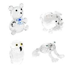 Glasfigur Bär Eule Schwein Frosch Deko Klein Figur Kinder Glücksbringer Geschenk
