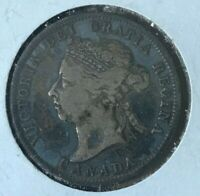 1901 Canada 25 Cents - Blue Stuff on Silver