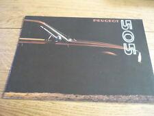 PEUGEOT 505 SALES BROCHURE 1980  jm