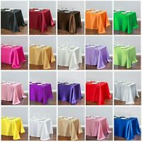 Large Satin Rectangle Tablecloth Wedding Party Table Cloth Covers Home Decor