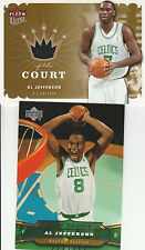AL JEFFERSON RC 04-05 UD + JERSEY 2006-07 ULTRA KING OF THE COURT