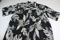 Silk Icon 100% Silk Floral CAMP SHIRT XL Extra Large