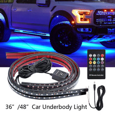 4 pcs RGB Under Car Strip Light Kit 48 LED Neon Tube Underglow Underbody System