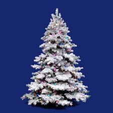 Vickerman Flocked Alaskan Unlit Christmas Tree, 3 ft.