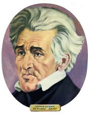 Vtg President Andrew Jackson Die Cut Face Paper Wall Decoration New Old Stock