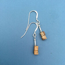 Picture jasper cube earrings. All sterling silver beads and earwires. Irish