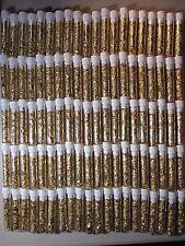 200 GOLD LEAF FLAKES 3ML VIALS BEAUTIFUL YELLOW LUSTER CAP SEALED NO LIQUID