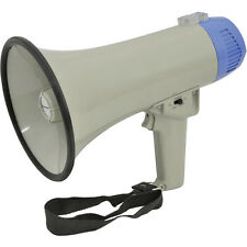 600m Range 10W Megaphone/Loud Hailer with Siren & Microphone - Speech/Voice Amp