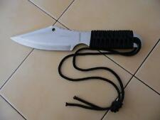 Paracord Wrapped Knife (7 in stainless steel Blade)with free cloth sheath