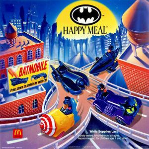 "VINTAGE 1991 McDonalds BATMAN Complete Set of 4 Toys "" MINT IN PACKAGE """