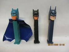 PEZ Bonbon Spender Batman mit Umhang  + 2 andere Batman