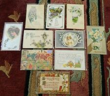 (10) Ten 100 Year Old + Postcards (Nine Easter & One is a Valentine's Day Card)