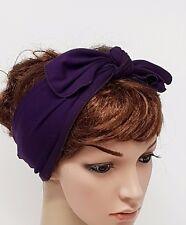 Tie Up Hair Scarf, Rockabilly Hair Wrap, Stretchy Hair Tie, Head Bandanna