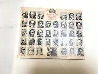Vintage Kmart Kresge Paper Placemat PRESIDENTS OF THE UNITED STATES Thru 1974