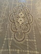 Stunning Antique French Tambour Netted lace Full Size Bedspread