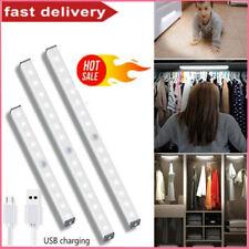 Wireless LED PIR Motion Sensor Closet Lights USB Rechargeable Light Strip Lamp #