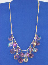 Kenneth Cole Goldtone Modern Tanzanite Faceted Bead Double Layer Necklace $48