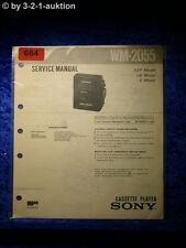 Sony Service Manual WM 2055 Cassette Player (#0684)
