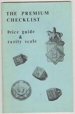 The Premium Checklist Price Guide and Rarity Scale