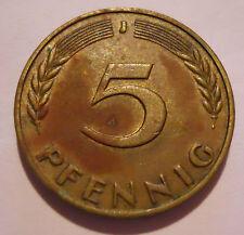 5 Pfennig DM Deutsche Mark Deutschland 1969 J Umlaufgeld