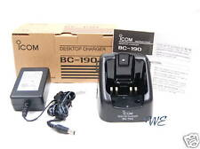 NEW ICOM BC-190 w/AC Rapid Charger for IC-F50V IC-F60V IC-F50 IC-F60 in BP-227