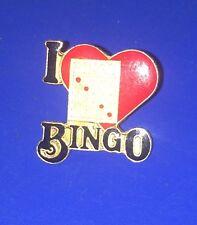 I LOVE BINGO Souvenir Pin      [G]