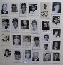 """(26) Small 1970's Glossy Photos Baseball Players & Officials, 2x4"""", 2x2"""", 3x3"""""""